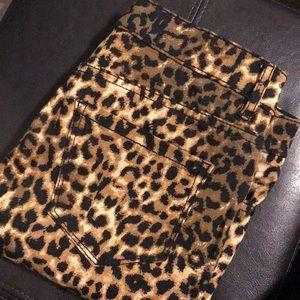FOREVER21 Cheetah Print Premium Denim